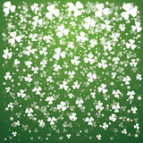 St. Patrick's Day Background with lights and transparent clover
