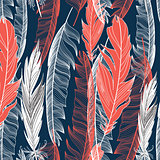 graphic pattern of feathers