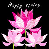 Graphic card with pink lotus