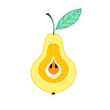 Graphic symbol of a pear