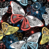 Graphic pattern fancy butterflies