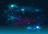 Night starry sky. Stars and space. Dark abstract background