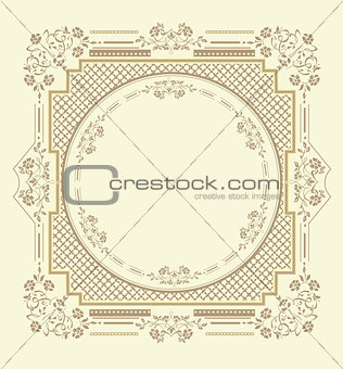 Frame floral ornament