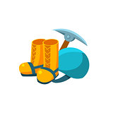 Camping Equipment. Vector Illustration