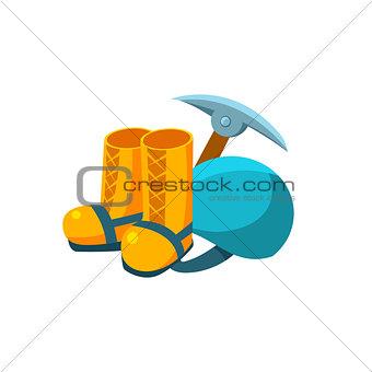 Camping Equipment. Vector Illustration