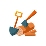 Camping Log. Vector Illustration