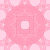 Decorative pattern pink of circular