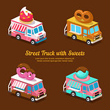 Sweets Food Truck, sweet isometric