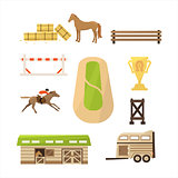 Vector Horse Sport Icons Set