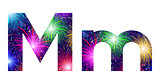 Set of letters, firework, M
