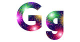 Set of letters, firework, G