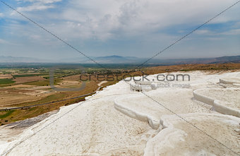 Beautiful landscape in Pamukkale