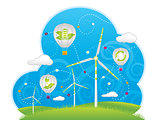 Eco windmills and air balloons
