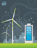 Eco windmills city energy charging