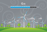 Eco windmills energy charging
