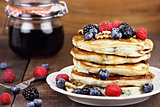 Pancakes and Fresh Berries