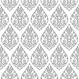 Seamless Thai pattern, repetitive background from Thailand