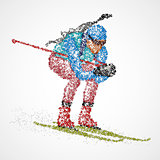 abstract biathlon sportsman