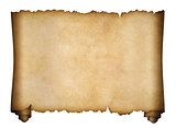 parchment or aged manuscript scroll isolated