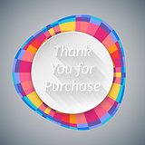 Low Poly Round Thank You Banner