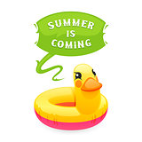 Colorful Duck Says Summer is Coming