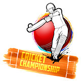Batsman playing cricket championship