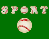 baseball ball written word sport