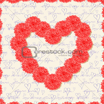 Greeting Cards with Red Flowers