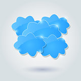 Shiny Cloud Group Card