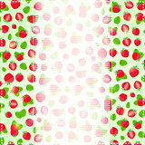 Greeting or Invitation Card with Ripe Straberry