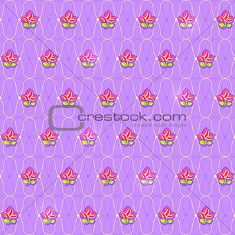 Classic Floral Pattern Seamless with Geometric Ornament