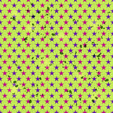 Seamless Pattern with Pink and Blue Star Elements