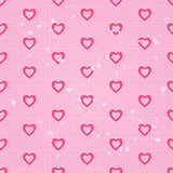 Vintage Seamless Pattern with Pink Hearts