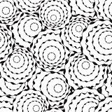 Simple Rose Silhouette Seamless Pattern
