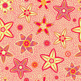 Yellow and Pink Flower Seamless Pattern