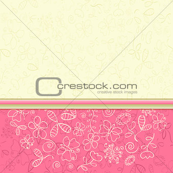 Bright Colorful Flower Greeting Card