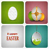 Easter decorative card with different eggs