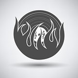 Flame vinyl icon