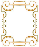 Multilayer ornate frame on a white background