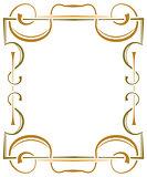 Multilayer ornate frame on a white background