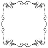 ornate frame on a white background
