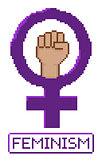 Pixelated feminist fist