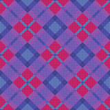 Seamless diagonal pattern in blue, pink and violet