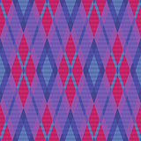 Seamless rhombic pattern in blue, pink and violet
