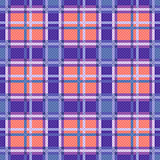 Seamless checkered pattern in blue, coral and violet