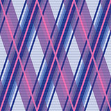 Seamless rhombic pattern in violet, blue and pink
