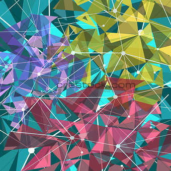Abstract backgroud with triangles