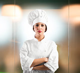 Confident woman chef
