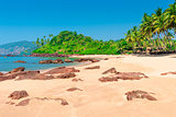 Horizontal picture of beautiful tropical beach in the afternoon
