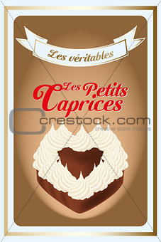 French retro confectionery poster